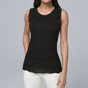 WHBM Lace Trim Sweater Tank
